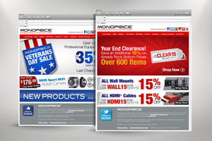 Monoprice Marketing Campaign Web Banners